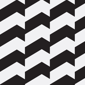Broken Chevron Black & White