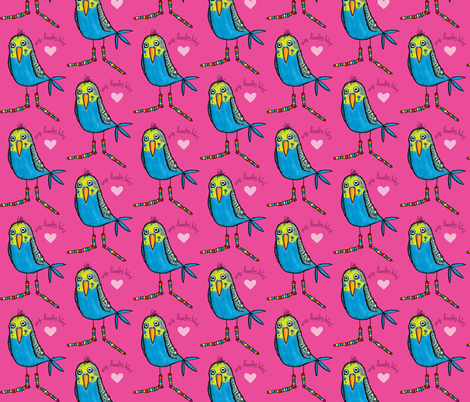 Budgie fabric by pinomino on Spoonflower - custom fabric