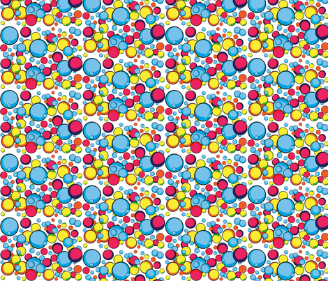 rainbow bubbles fabric by studio30 on Spoonflower - custom fabric
