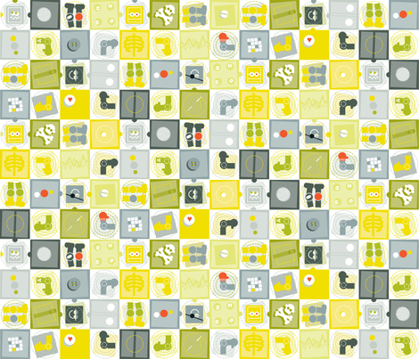 roTATE_roBOT fabric by julie_nelson_rhodes on Spoonflower - custom fabric