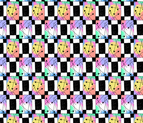 Retro 90s: Blocks and Arrows fabric by siya on Spoonflower - custom fabric