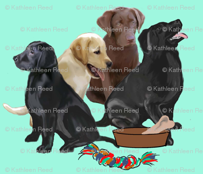 labrador retriever puppies and toys