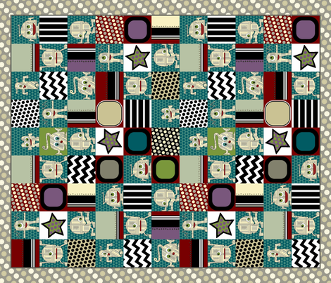 zakbot cheater quilt fabric by scrummy on Spoonflower - custom fabric
