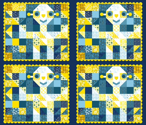 Sunshine Robot fabric by lilli_marina on Spoonflower - custom fabric