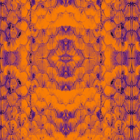 Snakeskin_Orange_and_Purple fabric by serendipit on Spoonflower - custom fabric