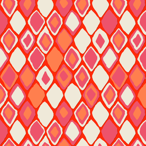 Almas diamond ikat fire fabric by scrummy on Spoonflower - custom fabric
