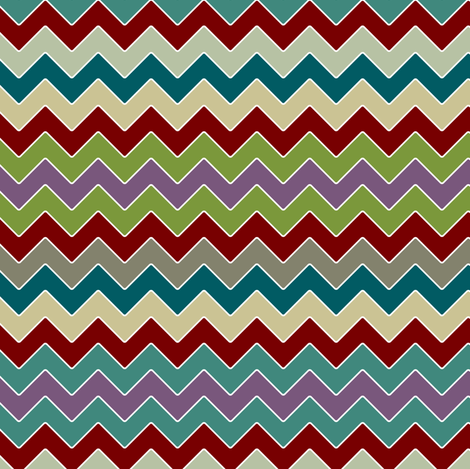 zakbot zig zag fabric by scrummy on Spoonflower - custom fabric