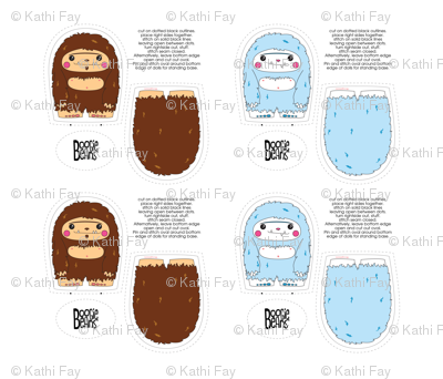 Sasquatch and Yeti Plush Set