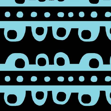 Bumpy Stripe (aqua & black) fabric by pattyryboltdesigns on Spoonflower - custom fabric