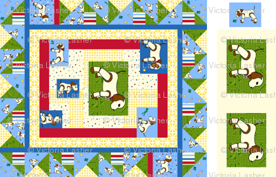 Robo Puppy cheater quilt