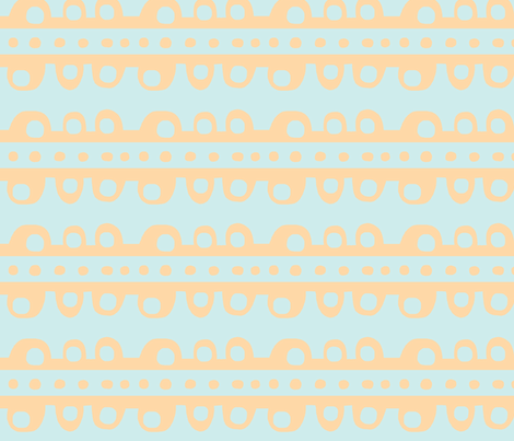 Bumpy Stripe (pale tangerine & light sky blue) fabric by pattyryboltdesigns on Spoonflower - custom fabric