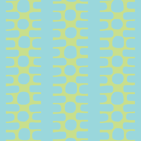Bumpy Dotty Stripe 2 (deep lime & aqua) fabric by pattyryboltdesigns on Spoonflower - custom fabric