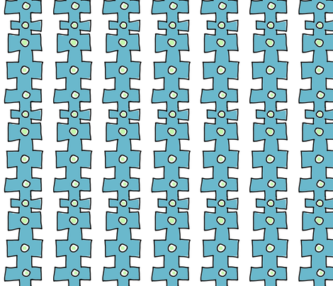 knobby Doodle Dot 2 (deep sky blue) fabric by pattyryboltdesigns on Spoonflower - custom fabric