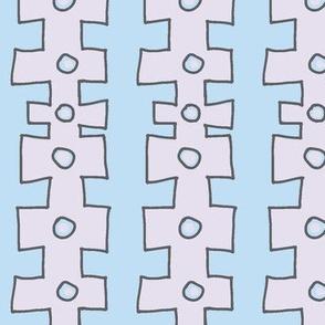 Knobby Doodle Dot (lilac & sky blue)