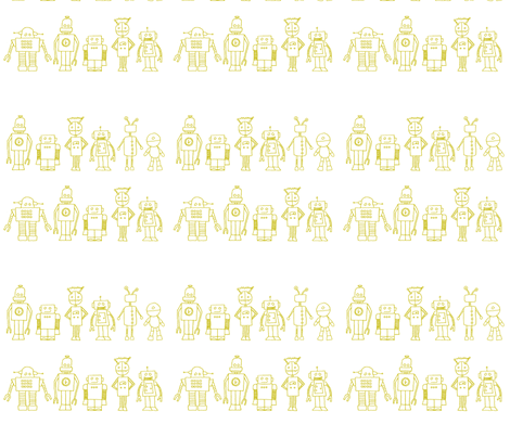 RobolineYellow fabric by emilou on Spoonflower - custom fabric