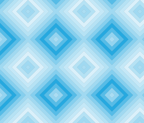 Blue Ombre Diamonds fabric by mainsail_studio on Spoonflower - custom fabric