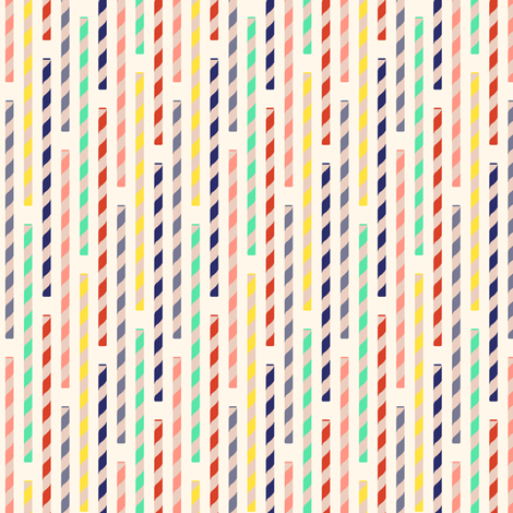 straws - creme fabric by cheyanne_sammons on Spoonflower - custom fabric