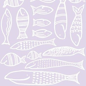 Funky Fish (lilac & white)