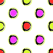 fushia orange lime dots
