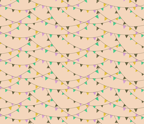 flags - peach fabric by cheyanne_sammons on Spoonflower - custom fabric