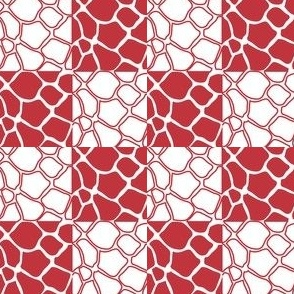 checkerd Giraffe (red)