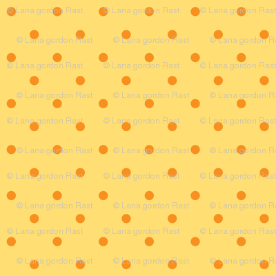 Chick Chick Yellow Polka dots