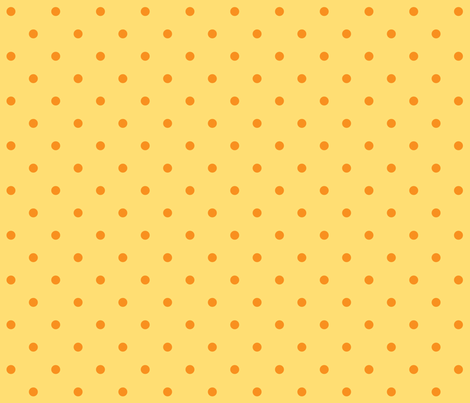 Chick Chick Yellow Polka dots fabric by ©_lana_gordon_rast_ on Spoonflower - custom fabric
