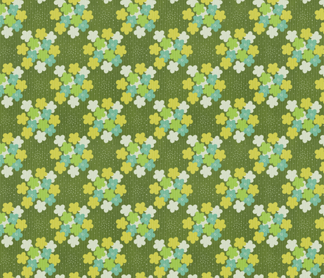 Green Flowers on Corduroy fabric by forest&sea on Spoonflower - custom fabric