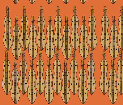 Dizzy Dulcimer fabric by illustratedbyjenny on Spoonflower - custom fabric