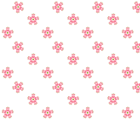 Matilda_Pink_ii fabric by designedtoat on Spoonflower - custom fabric
