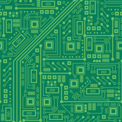 Robot Circuit Board (Green)
