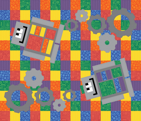 Bots for Tots Cheater Quilt fabric by robyriker on Spoonflower - custom fabric