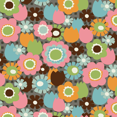 precious_Garden_-_gray fabric by hoodiecrescent&stars on Spoonflower - custom fabric