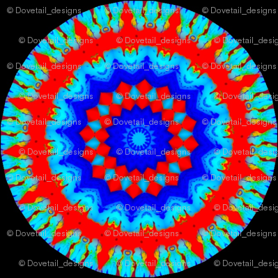 Flower Power - Bleeding Hearts  Mandala 10