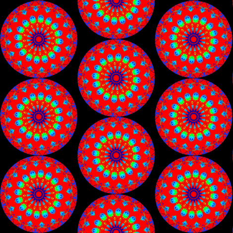 Bleeding Hearts Mandala 5 fabric by dovetail_designs on Spoonflower - custom fabric
