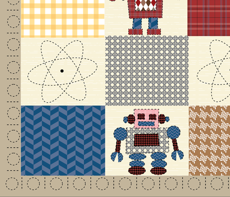Folksy Bots Quilt fabric by snowflower on Spoonflower - custom fabric