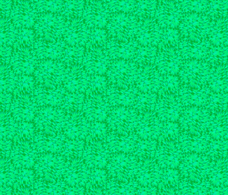 Firepuff Emerald fabric by glimmericks on Spoonflower - custom fabric
