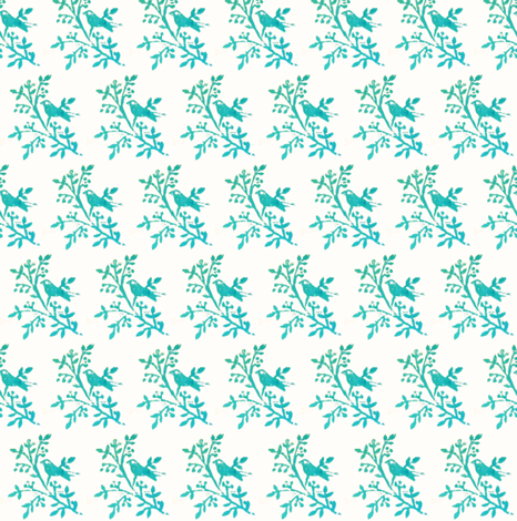 bluebirdprint fabric by spoonflowercherie on Spoonflower - custom fabric