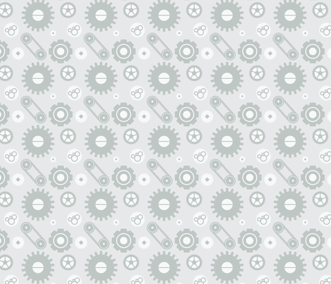 Mechanical gears fabric by bluealgae on Spoonflower - custom fabric