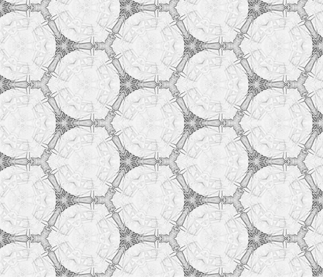 Graphite gray hexagons fabric by wren_leyland on Spoonflower - custom fabric