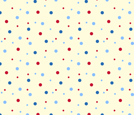 robo_puppy_confetti_dot_cream fabric by victorialasher on Spoonflower - custom fabric