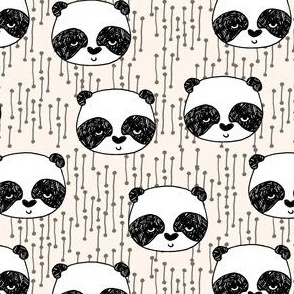 Panda - Champagne (Smaller Size) by Andrea Lauren