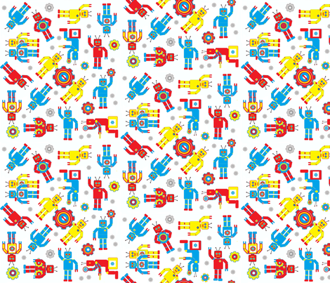Random_Robots fabric by joofalltrades on Spoonflower - custom fabric