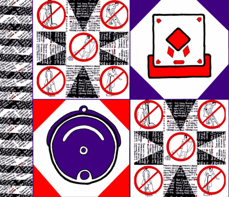Homage To The Robotic Vacuum Cleaner fabric by queeninmyownmind on Spoonflower - custom fabric