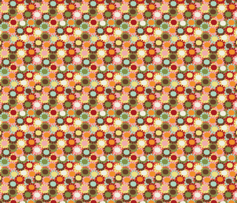 Fringe_Daisy_Oramge fabric by hoodiecrescent&stars on Spoonflower - custom fabric