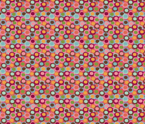 Fringe Daisy _pink fabric by hoodiecrescent&stars on Spoonflower - custom fabric