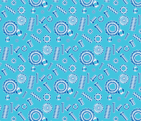 springs and things blue fabric by cjldesigns on Spoonflower - custom fabric
