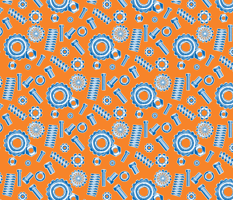 springs and things orange fabric by cjldesigns on Spoonflower - custom fabric