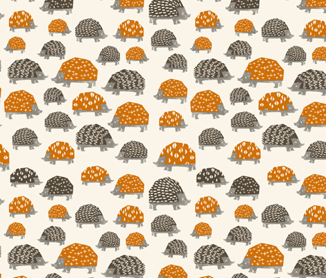 Hedgehogs - Custom Colors fabric by andrea_lauren on Spoonflower - custom fabric