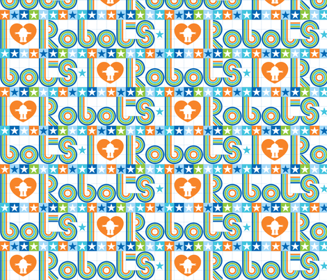 I love robots border 50% reduced fabric by cjldesigns on Spoonflower - custom fabric